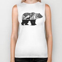 THE BEAR AND THE WOLF Biker Tank