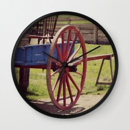 Old Farm Wagon Wall Clock