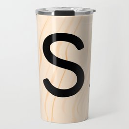 Scrabble Letter S - Large Scrabble Tiles Travel Mug