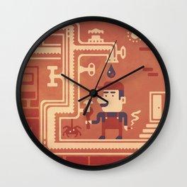 Mario at work Wall Clock