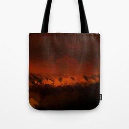 Wild fire landscape nature illustration Tote Bag