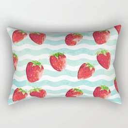 Strawberries by the sea Rectangular Pillow