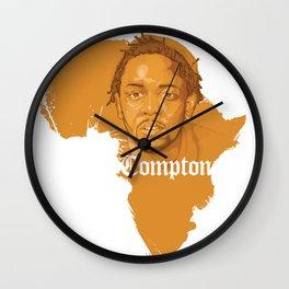 Kendrick Lamar Compton Africa Wall Clock