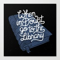 library Canvas Prints featuring Library by WEAREYAWN