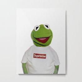 Supreme Kermit Metal Print
