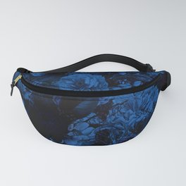 winter flowers seamless pattern 01 big dark blue Fanny Pack