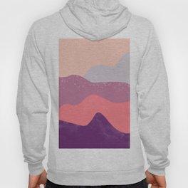 Modern geometric abstract purple snow winter mountains Hoody
