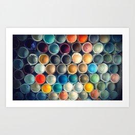 Honeycomb Palette Art Print