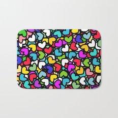 Rainbow LOVE Hearts Bath Mat