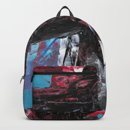 80's Cornucopia Modern Abstract Painting Backpack