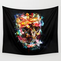 ed sheeran Wall Tapestries featuring King Dusty - Black Ed. by HappyMelvin