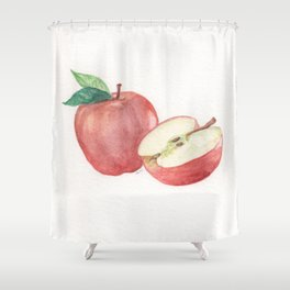 Apple and a Half Shower Curtain