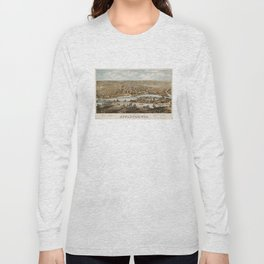 Vintage Pictorial Map of Appleton WI (1874) Long Sleeve T-shirt
