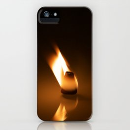 Frankincense cone on fire iPhone Case
