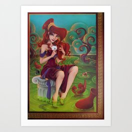 Megara Damsel in Distress Art Print
