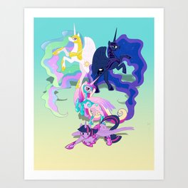 Battle Princess Art Print