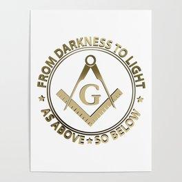 Freemasonry emblem Poster