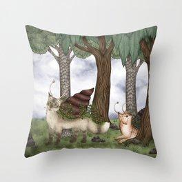 Catsnail I / Katzenschnecken I Throw Pillow