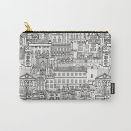 Bath toile black silver Carry-All Pouch