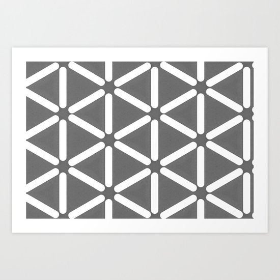 Wildeman Grey Pattern Art Print