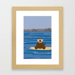 Otter by Jacki Spiegel Framed Art Print