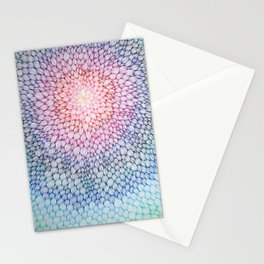 Floral mandala color Stationery Cards