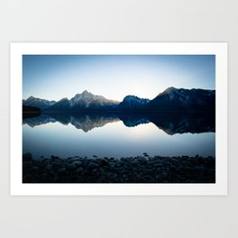 Mountains Over Jackson Lake Art Print