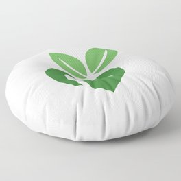 Love for vegan food with organic leaves and spoon forks Floor Pillow