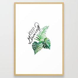 Keep Growing. Monstera Watercolor. Framed Art Print