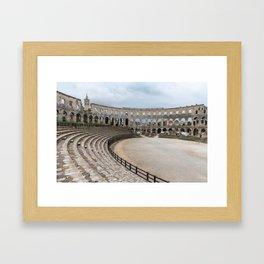 Pula Arena in Istria, Croatia Framed Art Print