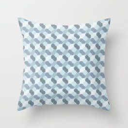 Four Swirl Pale Blue Throw Pillow