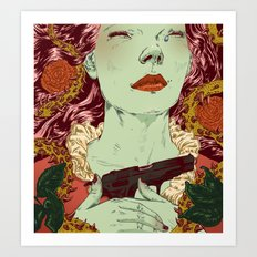 Gonzo Girls vs Sleeping Beauties Art Print