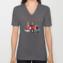 Nice Design Idea for truck drivers and female drivers Unisex V-Neck