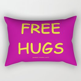 Free Hugs While Stocks Last Rectangular Pillow