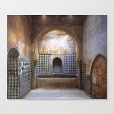 Hot bath room in the Alhambra Canvas Print