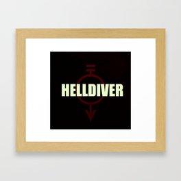 Helldiver Framed Art Print