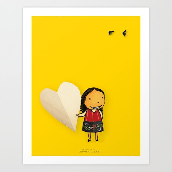 Share your Heart Art Print