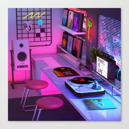 Vinyl is Life Canvas Print