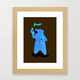On the Phone Framed Art Print