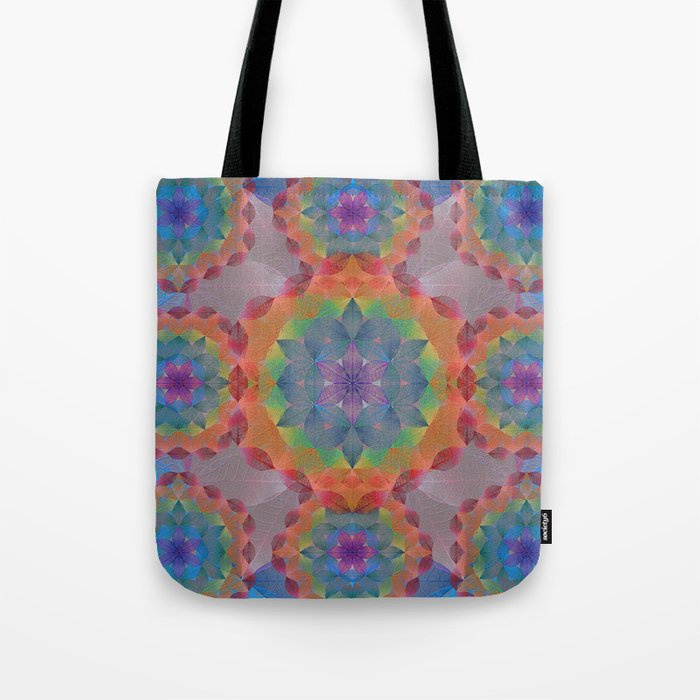 The Flower of Life - Leaf Pattern Tote Bag