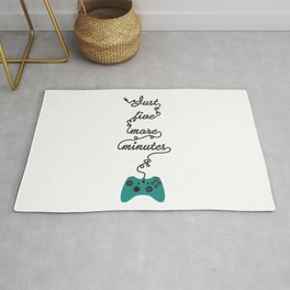 Just Five More Minutes Xbox Game Controller Rug