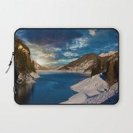 Swiss Alpine Winter Sunset Laptop Sleeve