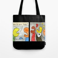 boxing Tote Bags featuring Boxing by Bakal Evgeny