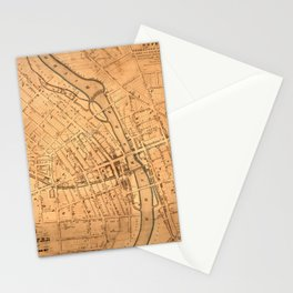 Map Of Rochester 1832 Stationery Cards