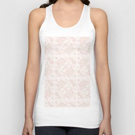 Elegant pink white pastel color chic floral lace Unisex Tank Top