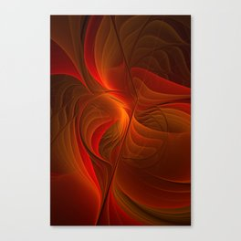 Warmth, Abstract Fractal Art Canvas Print