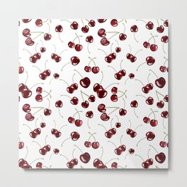 Cherry toss Metal Print