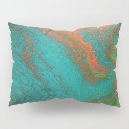 Rusty Jade: Acrylic Pour Painting Pillow Sham