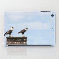 cara iPad Cases featuring Crested Cara Cara Hawks by Wild&WanderfulArt