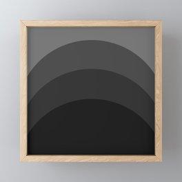 Four Shades of Black Curved Framed Mini Art Print